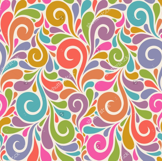 Colorful Pattern with Swirls Shapes