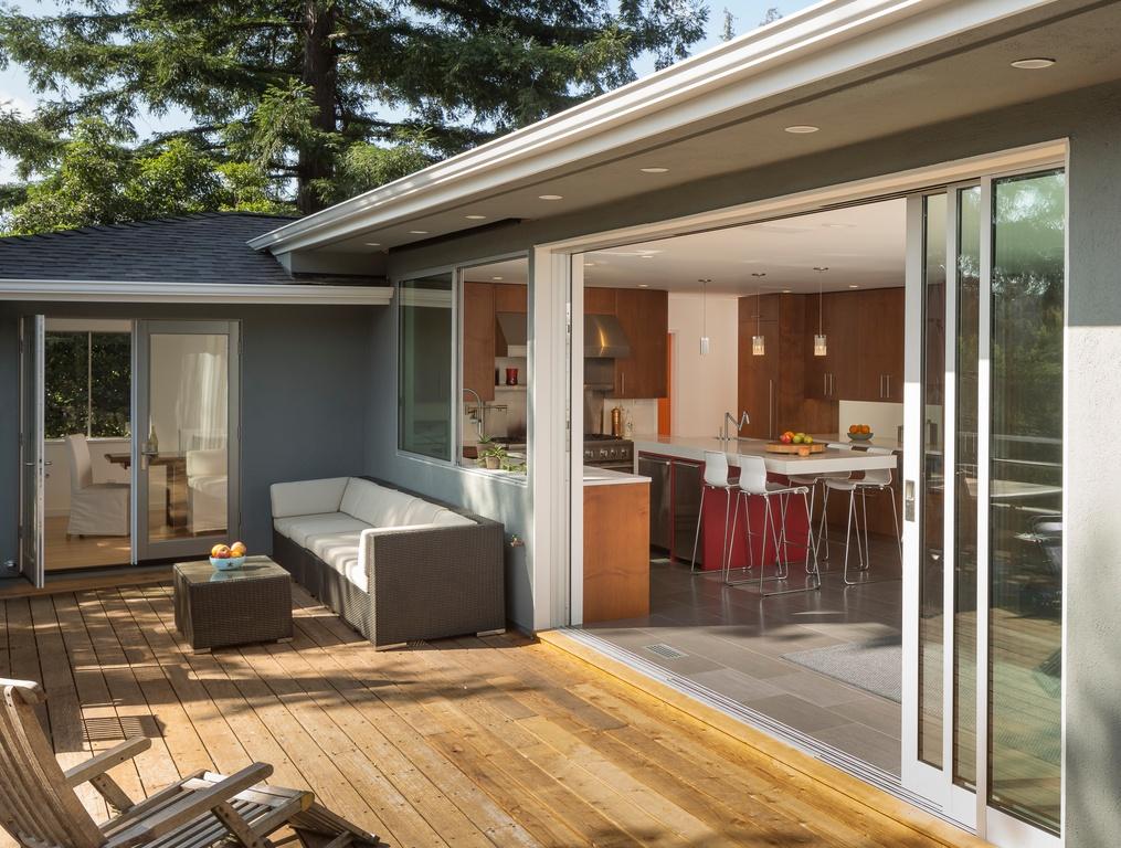 modish outdoor deck model