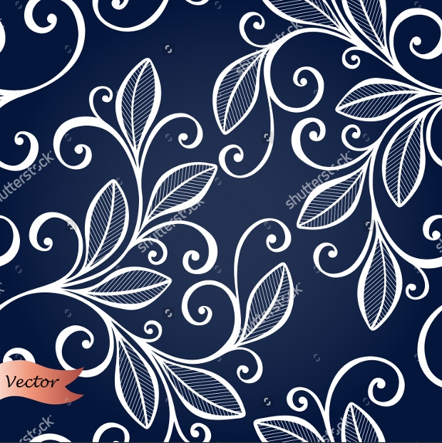 Vector Ornate Floral with Swirl Pattern