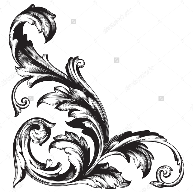 Ornament with Swirls Shape Pattern