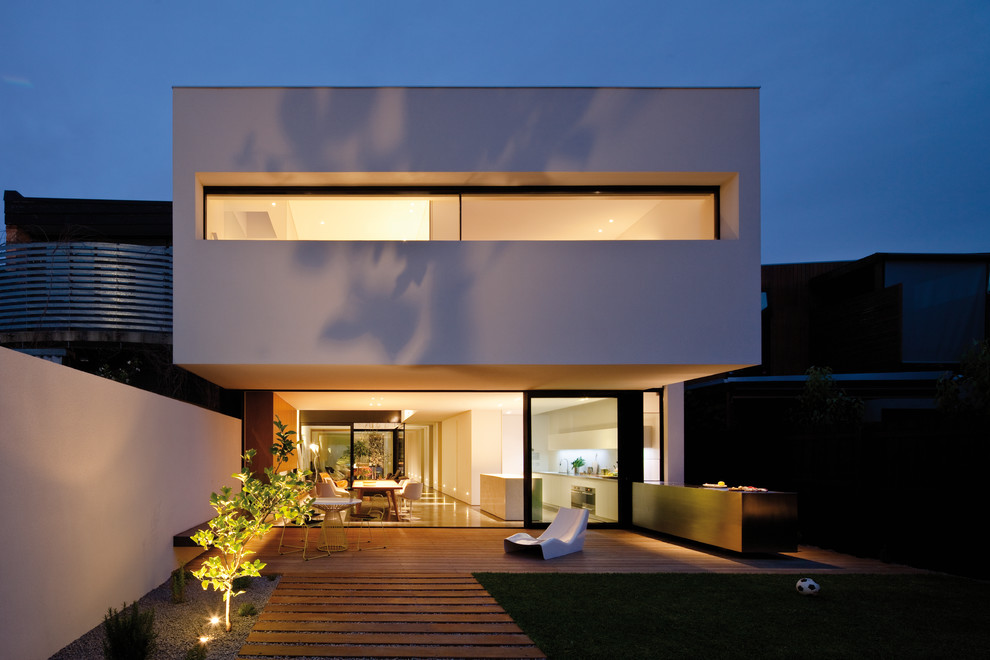 modish front exterior deck designs