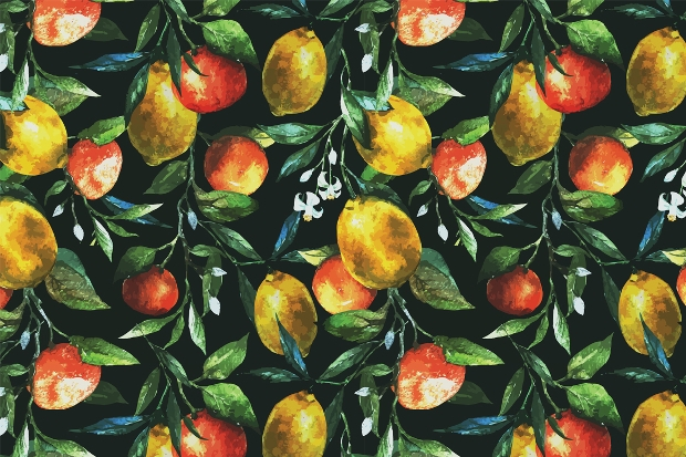 Watercolor Lemon Design Pattern