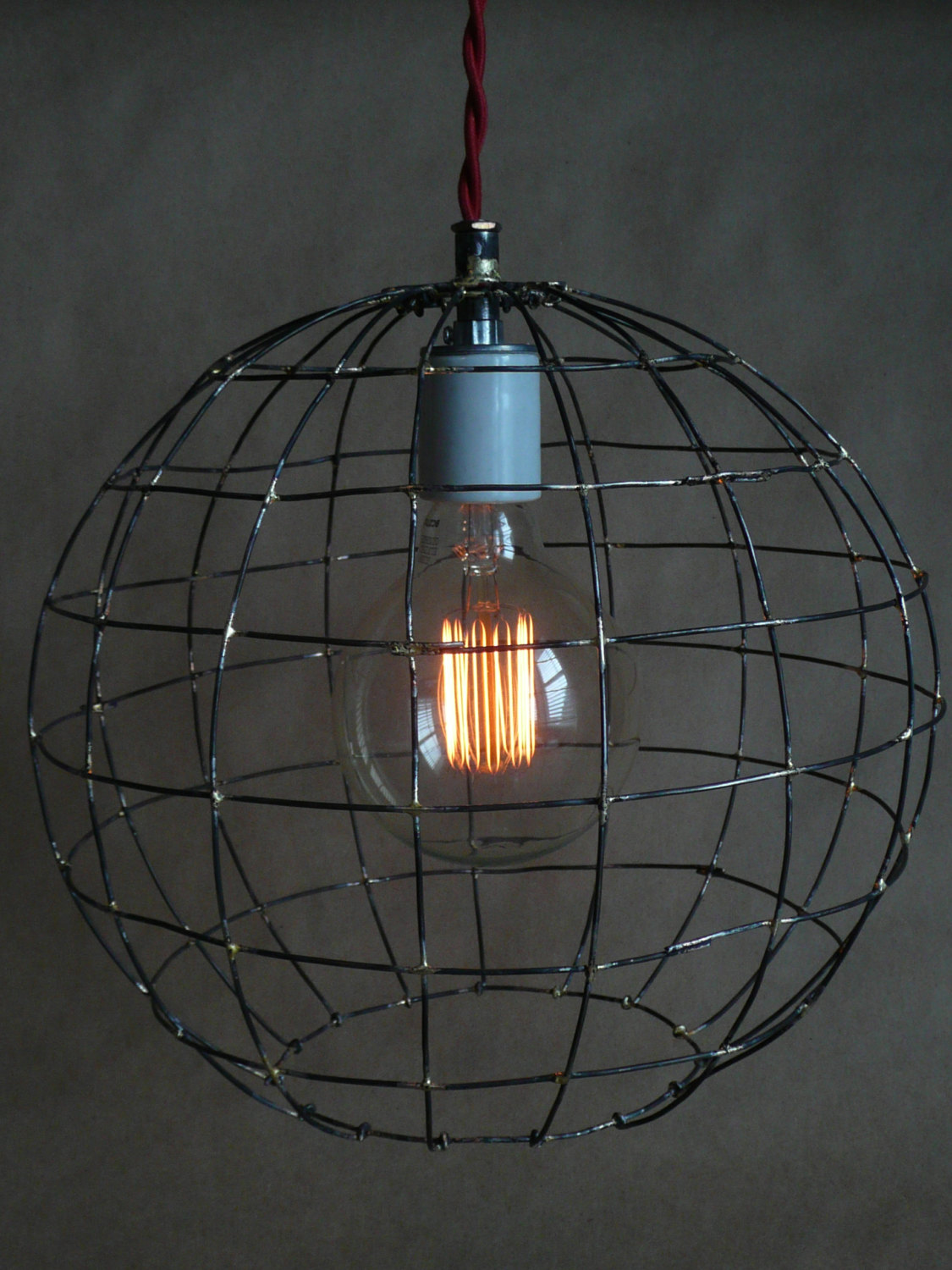 Rustic wire sphere pendant light Designs