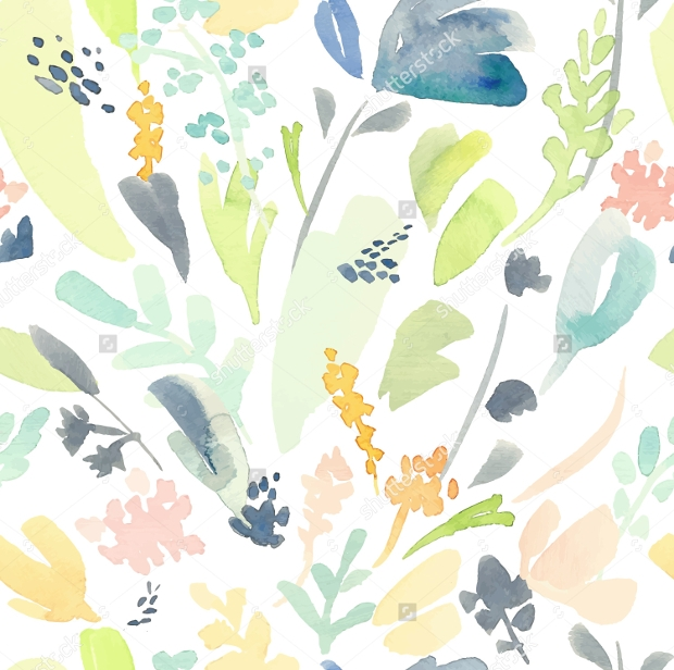 Seamless Fabric Watercolor Design Pattern