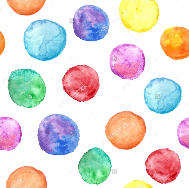 Colorful Seamless Watercolor Circle Pattern