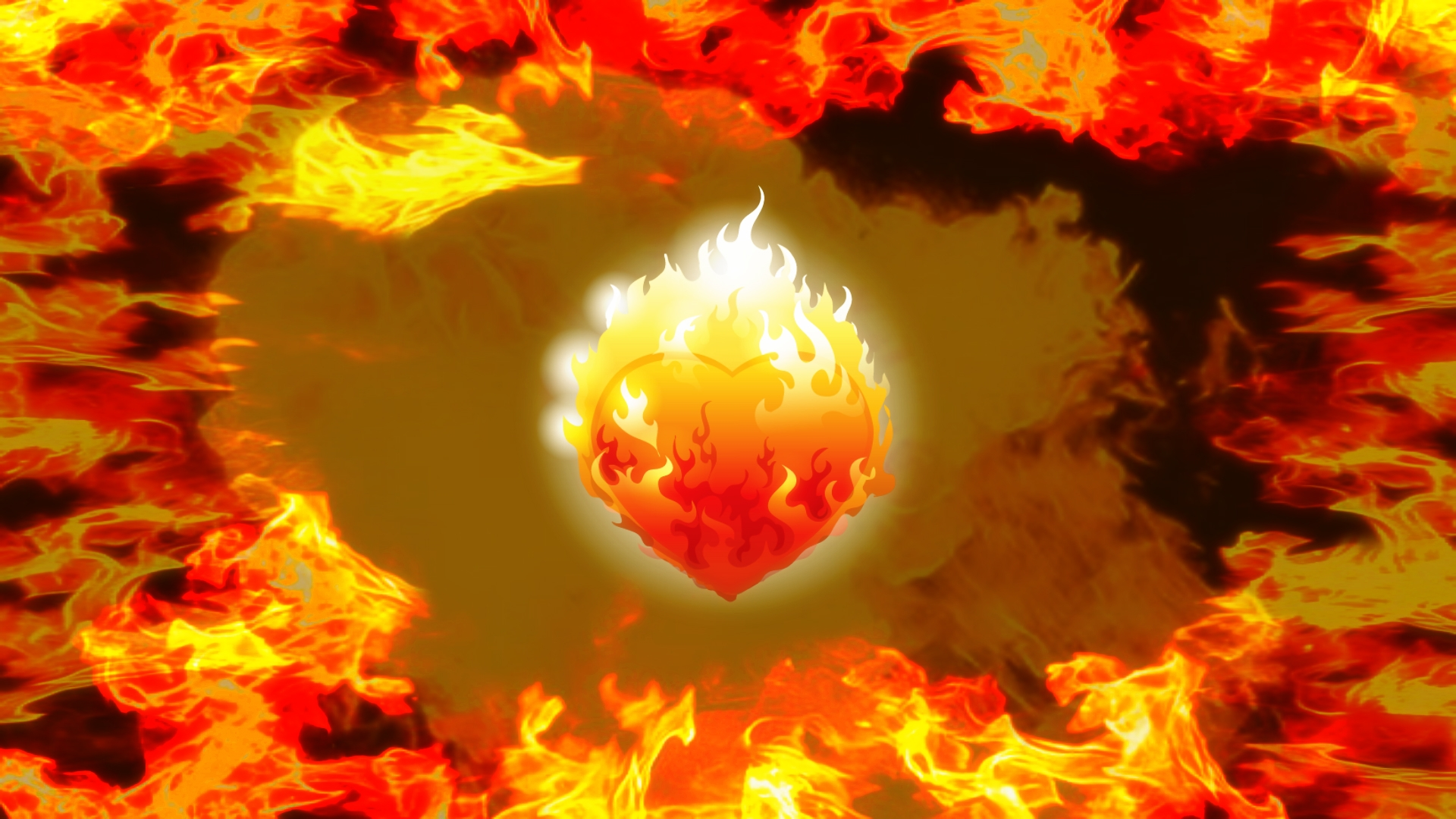 Artistic Fire Flame Heart Wallpapers