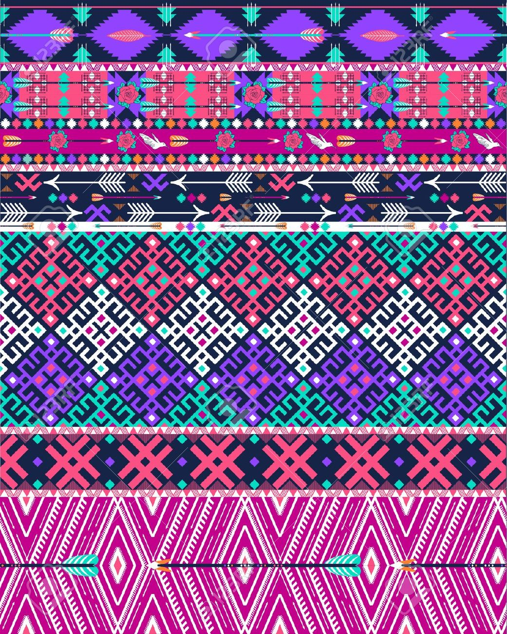 Traditional Aztec Pattern