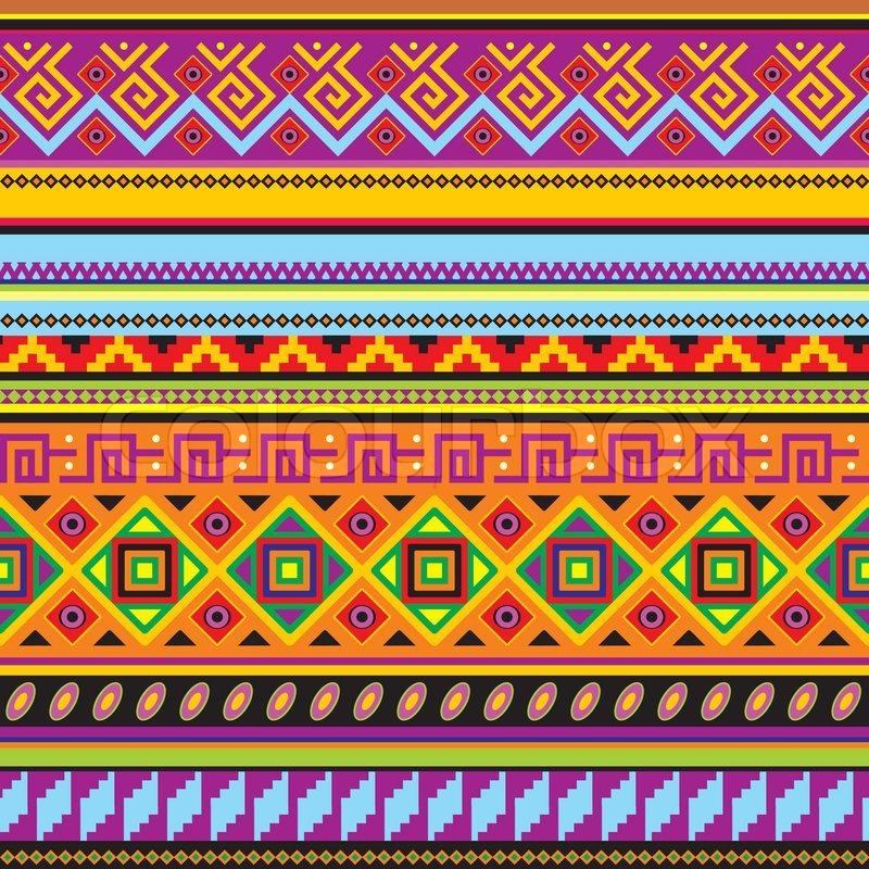 Aztec Pattern Wallpaper