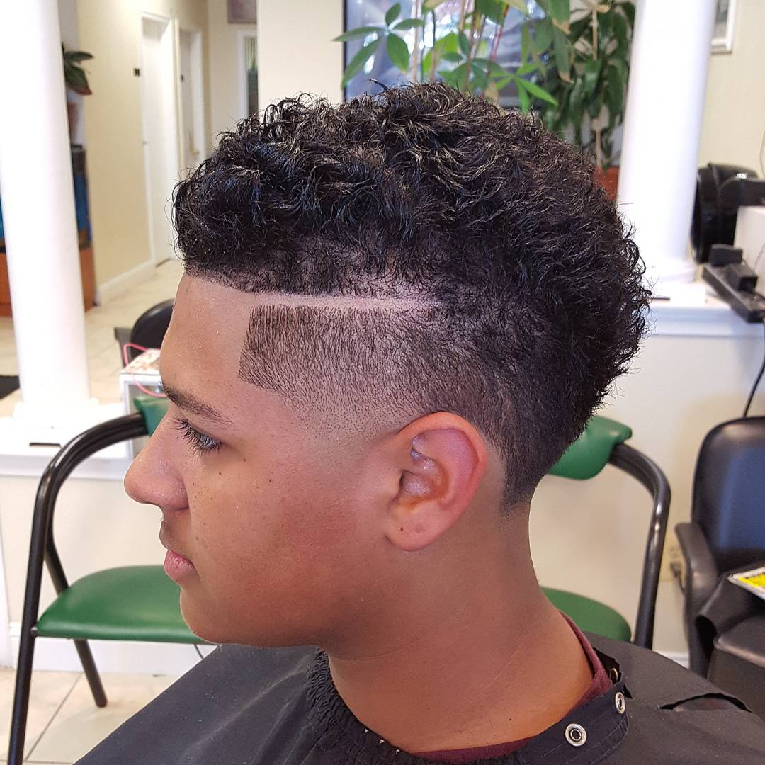 Curly Line Skin Taper