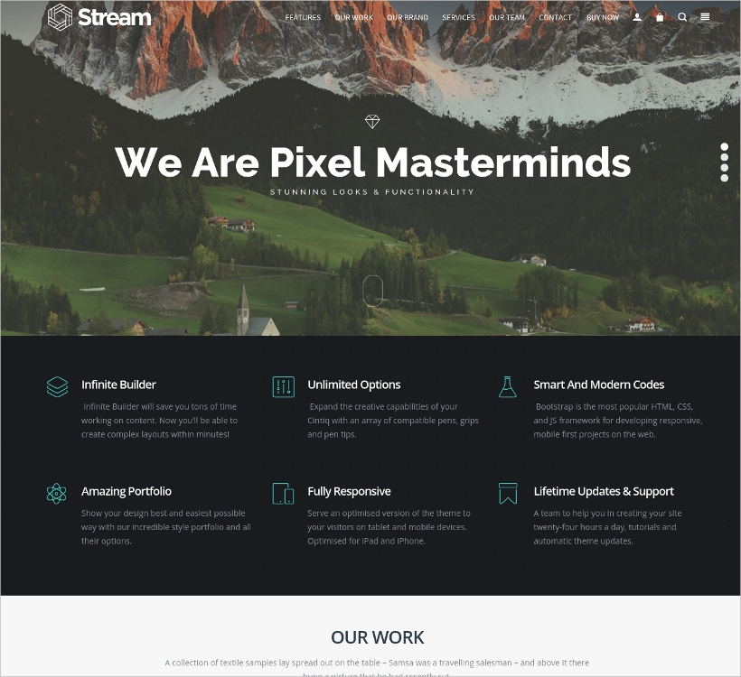 Amazing One Page Responsive WP Theme