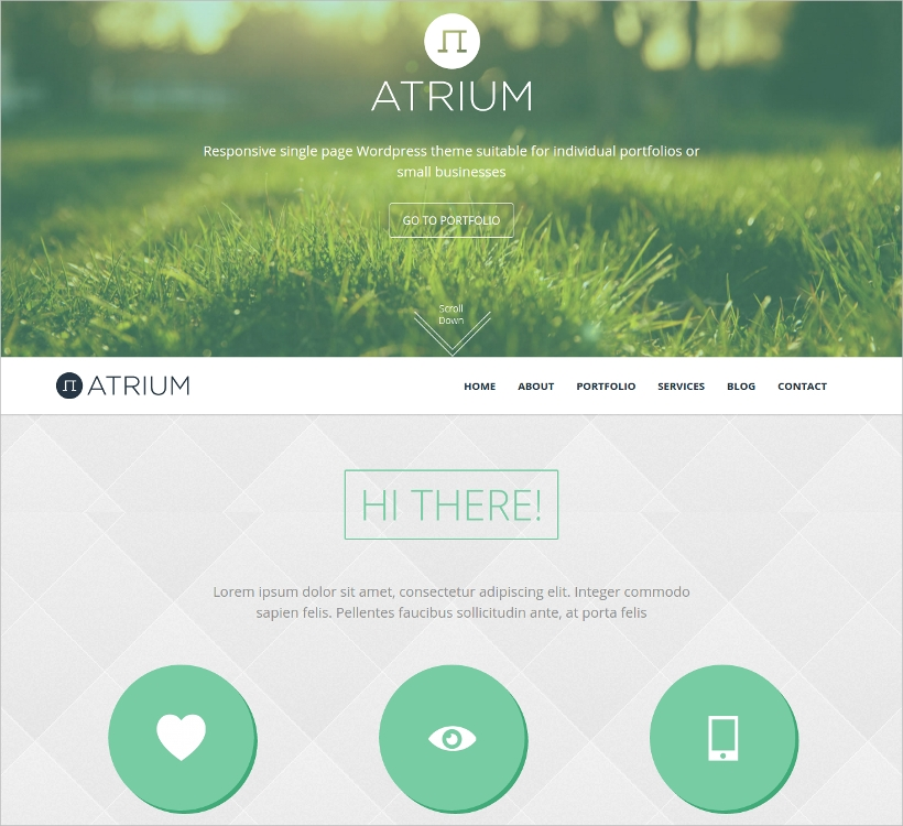 Atrium One Page Parallax WordPress Theme
