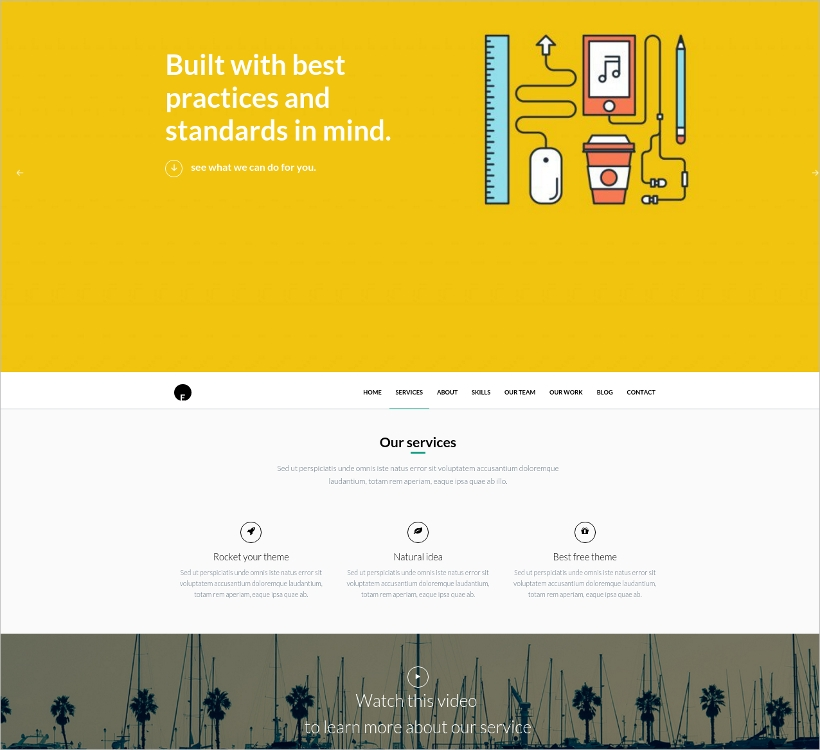 Beautiful One Page WordPress Theme