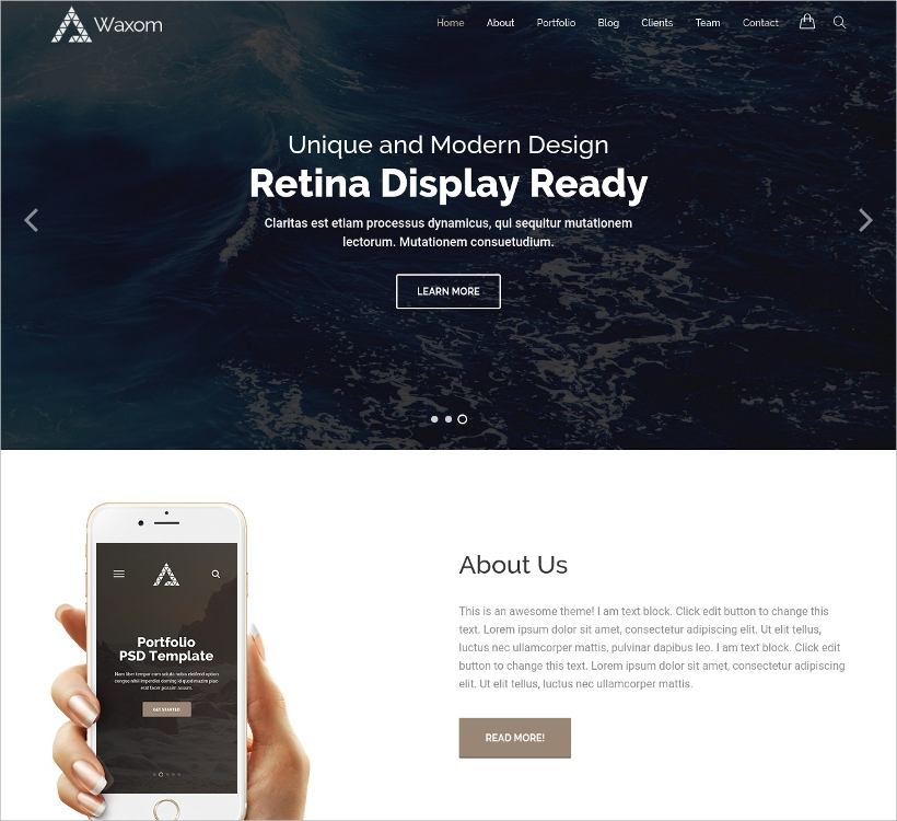 clean universal wordpress theme