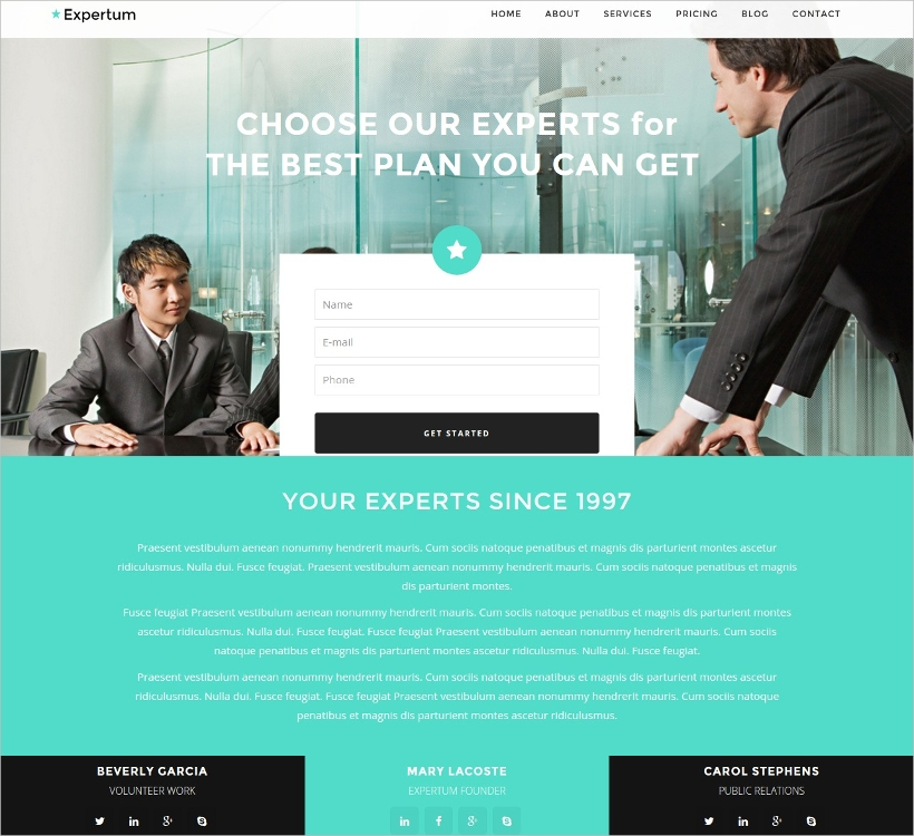 modern professional wordpress theme