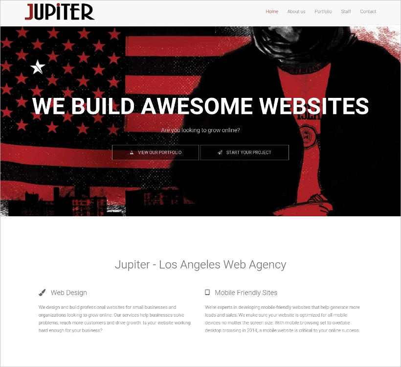 multipurpose one page bootstrap 3