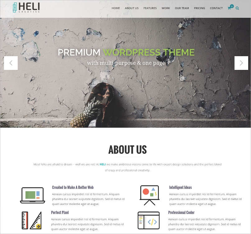 Multi-Purpose & One Page WordPress Theme