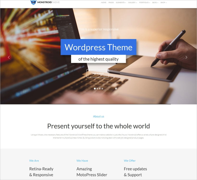 One Page Responsive WordPress Theme
