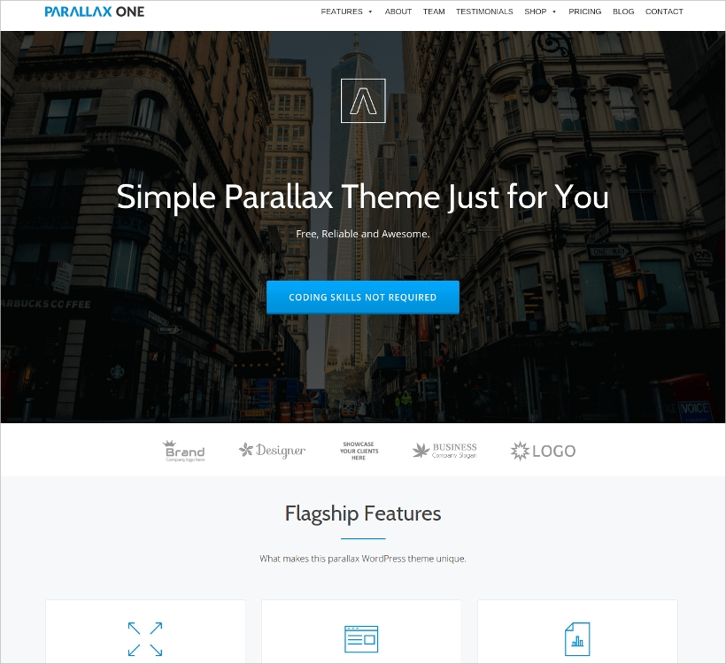 One Page WordPress Business Theme