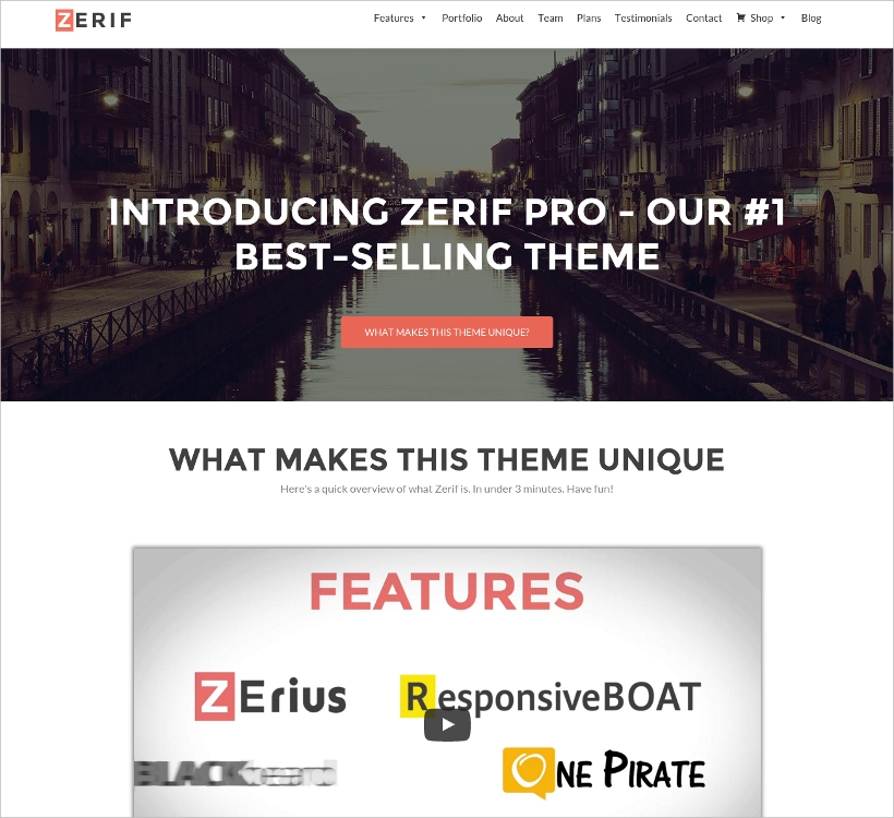 Premium One Page WordPress Theme