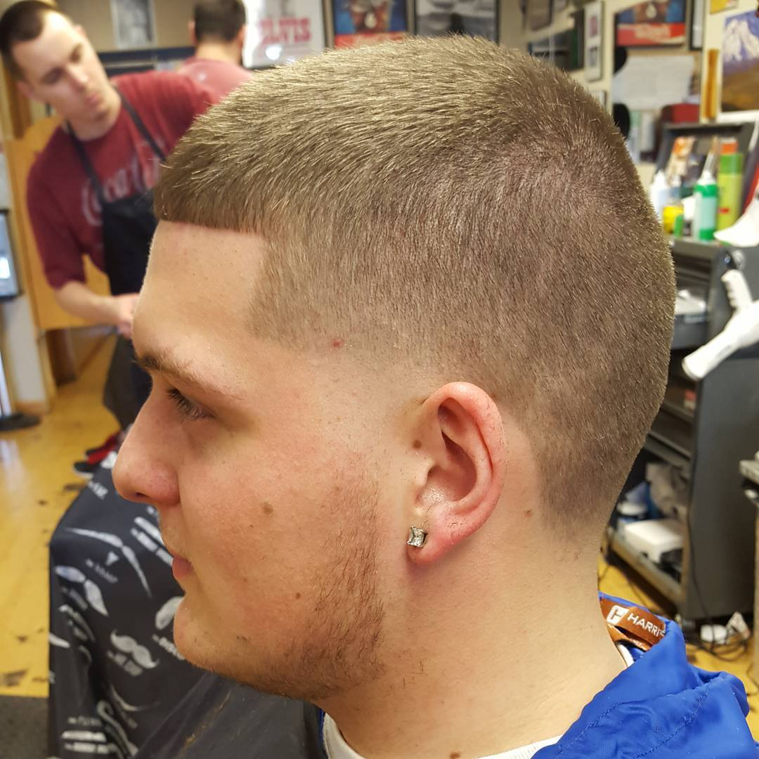 golden skin taper haircut