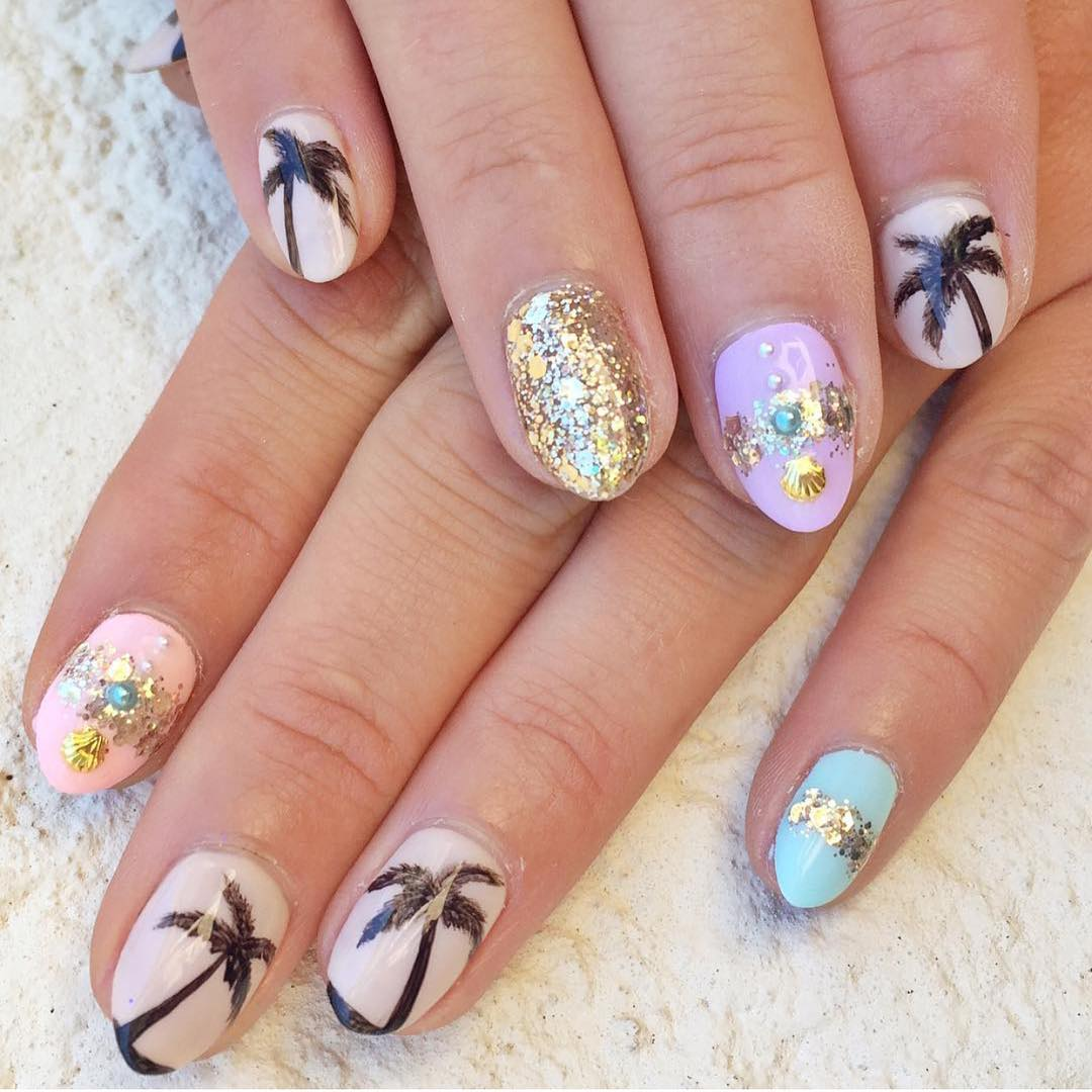 tropical nail art design fashion
