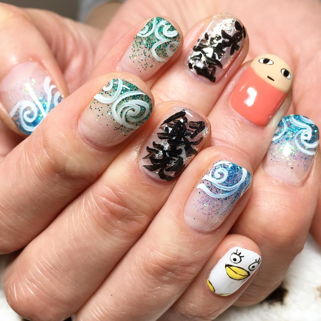 cartoon nail art idea