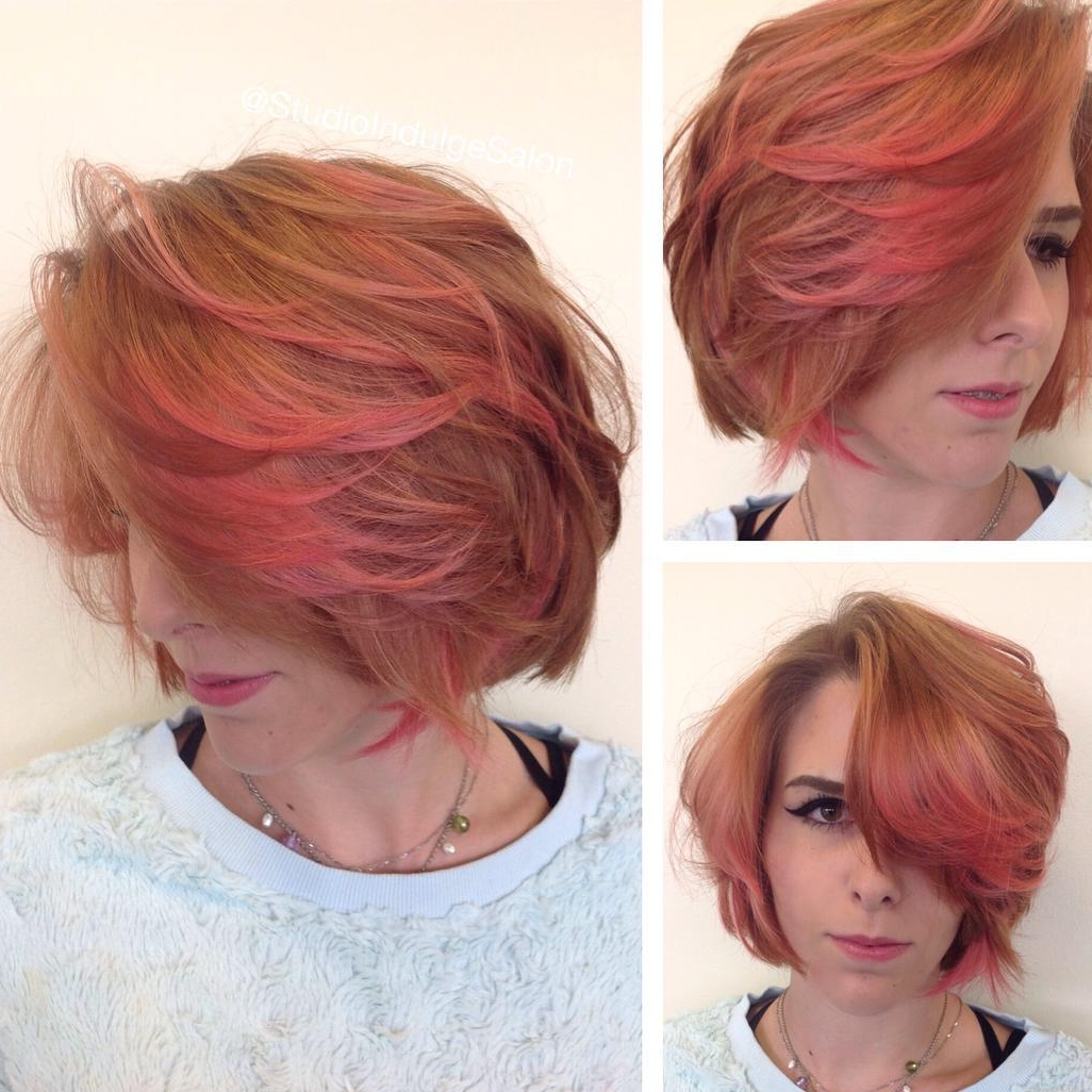 Rose Gold Colored Bob Hairstyle