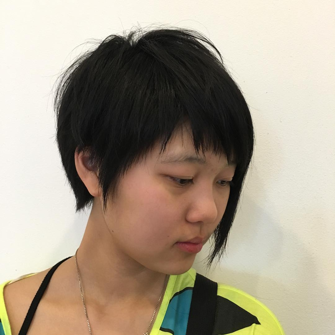 Chinese Edgy Bob Hairstyle