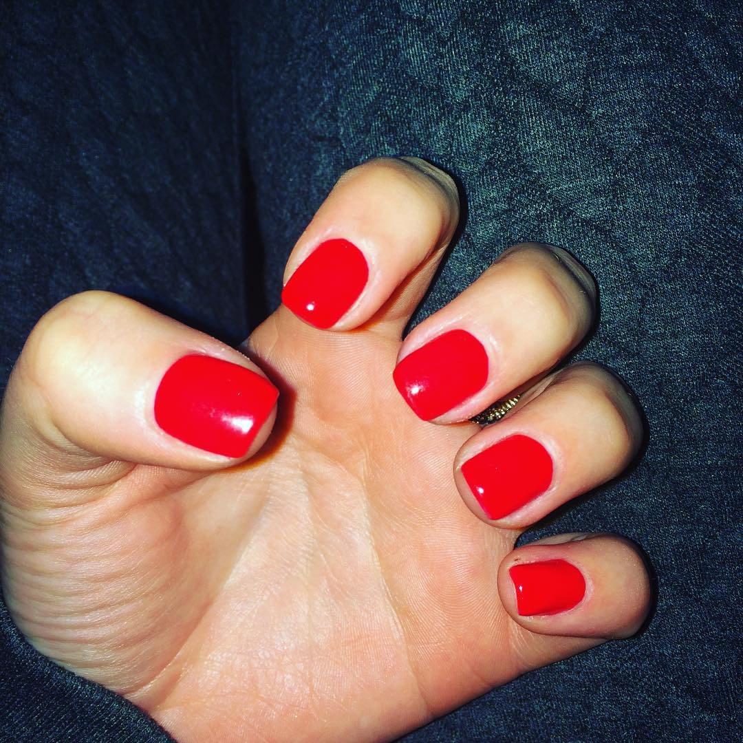 Simple Red Nail Paint