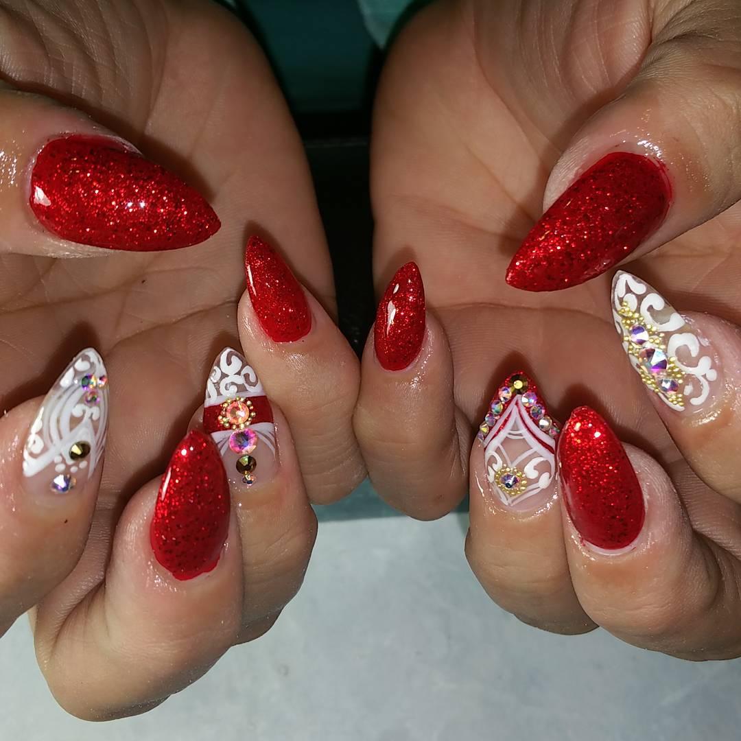 29 Red Finger Nail Art Designs Ideas