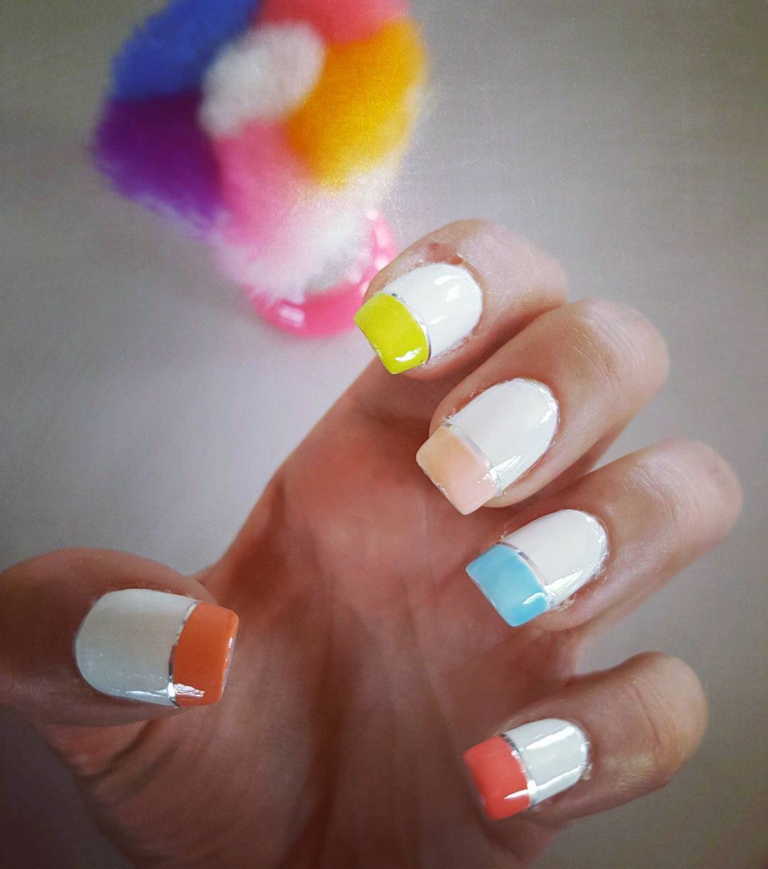 Trendy White Nail Design