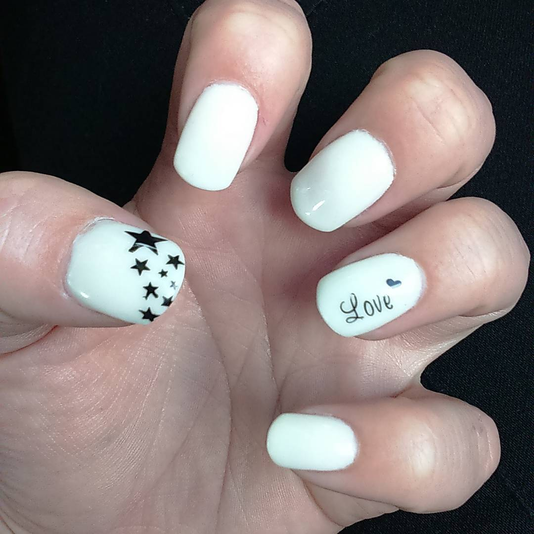 Love & White Nail Designs for Summer