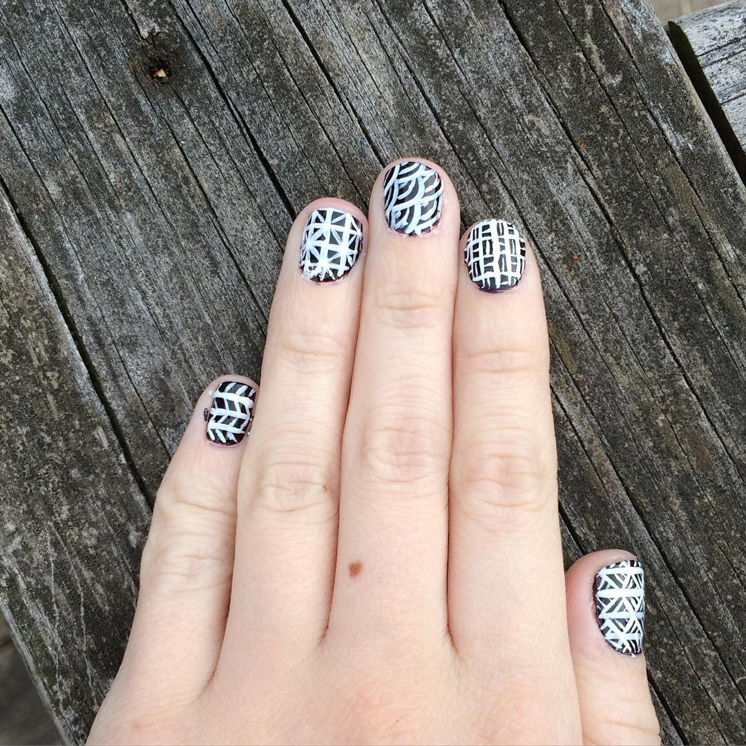 Wonderful Summer White Nail Design