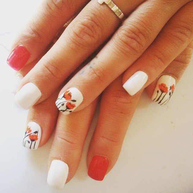 Orange Summer Nail Designs
