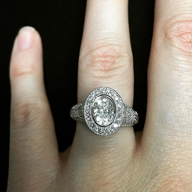 Beautiful Vintage Style Engagement Ring
