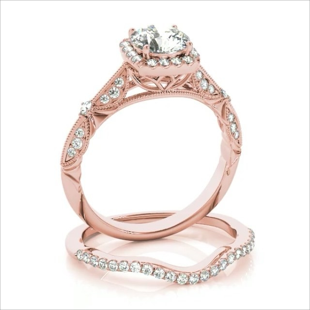Rose Gold Diamonds and Moissanite Looks Elegant