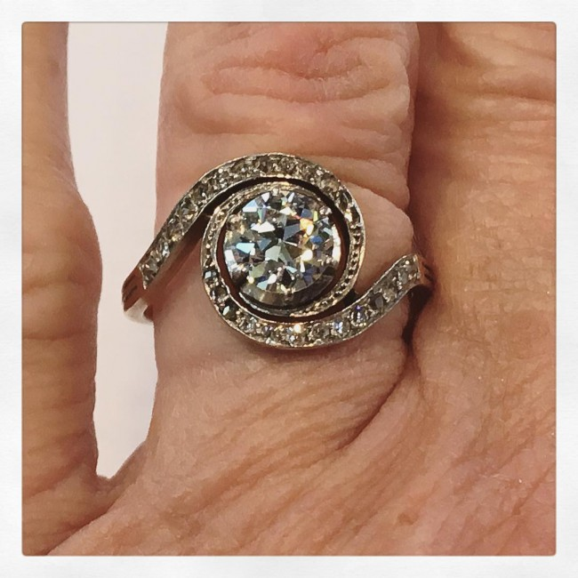 Antique Vintage Victorian Diamond Engagement Ring