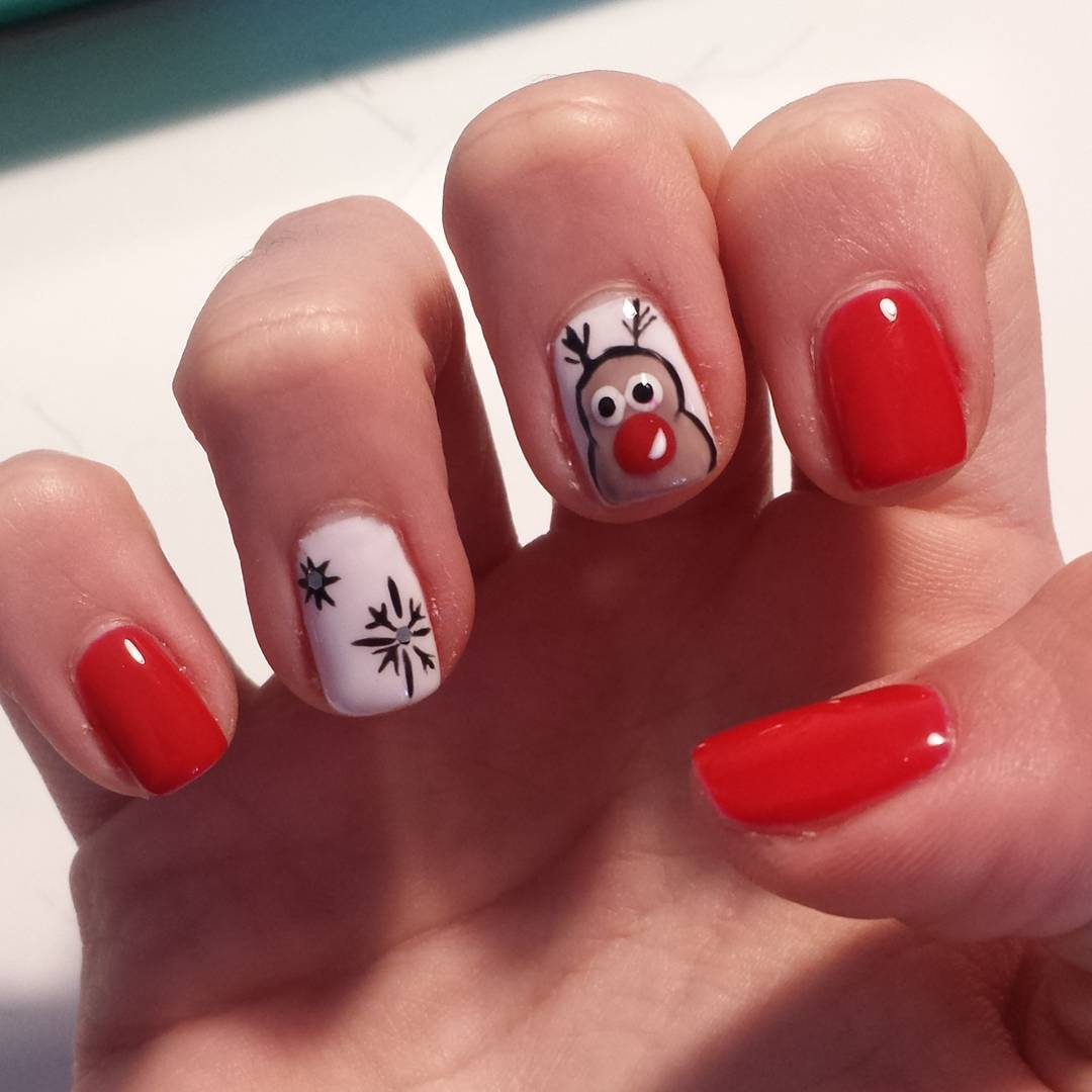 cartoon design nail art looks so cute