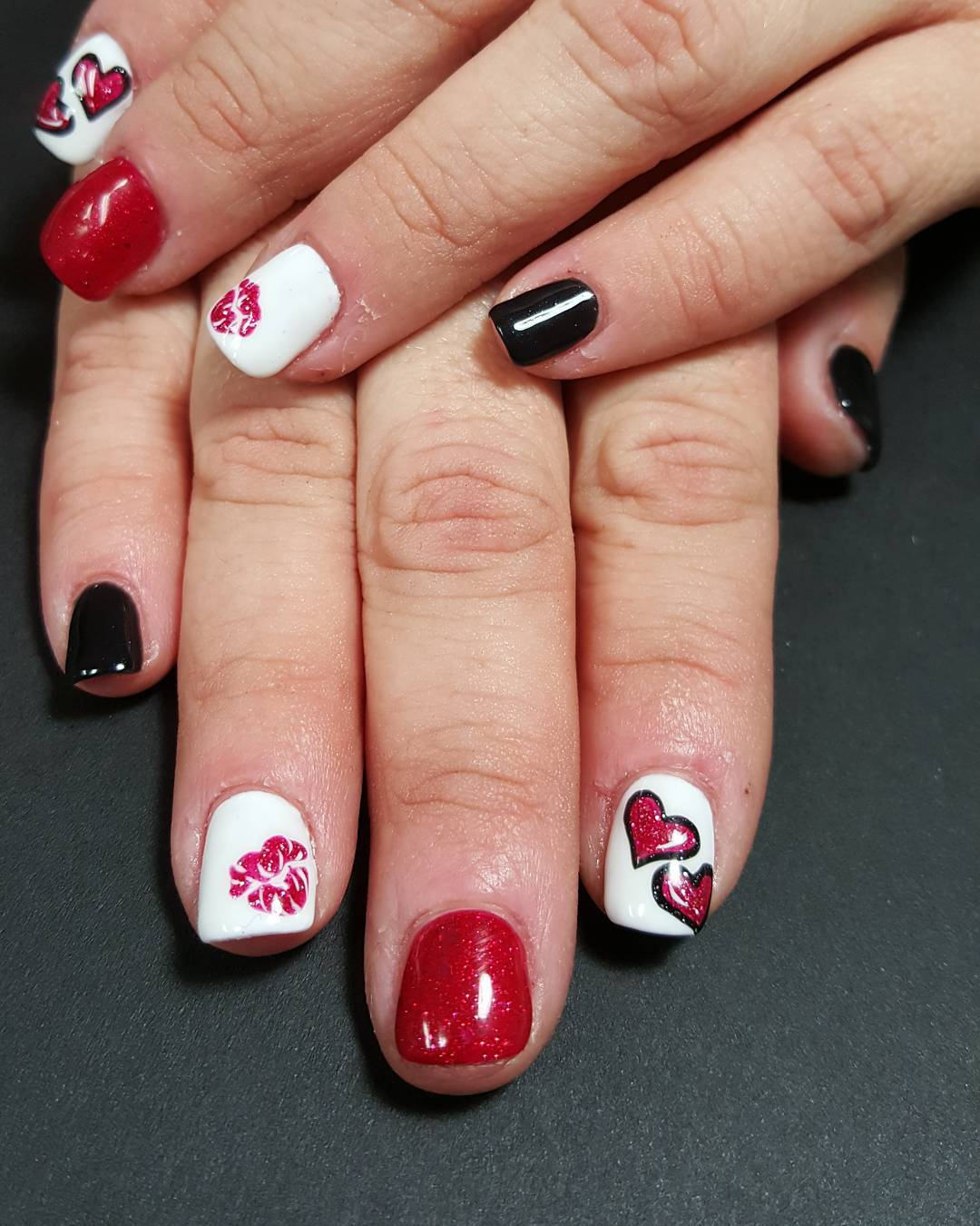 Red Nail Art Designs , Ideas