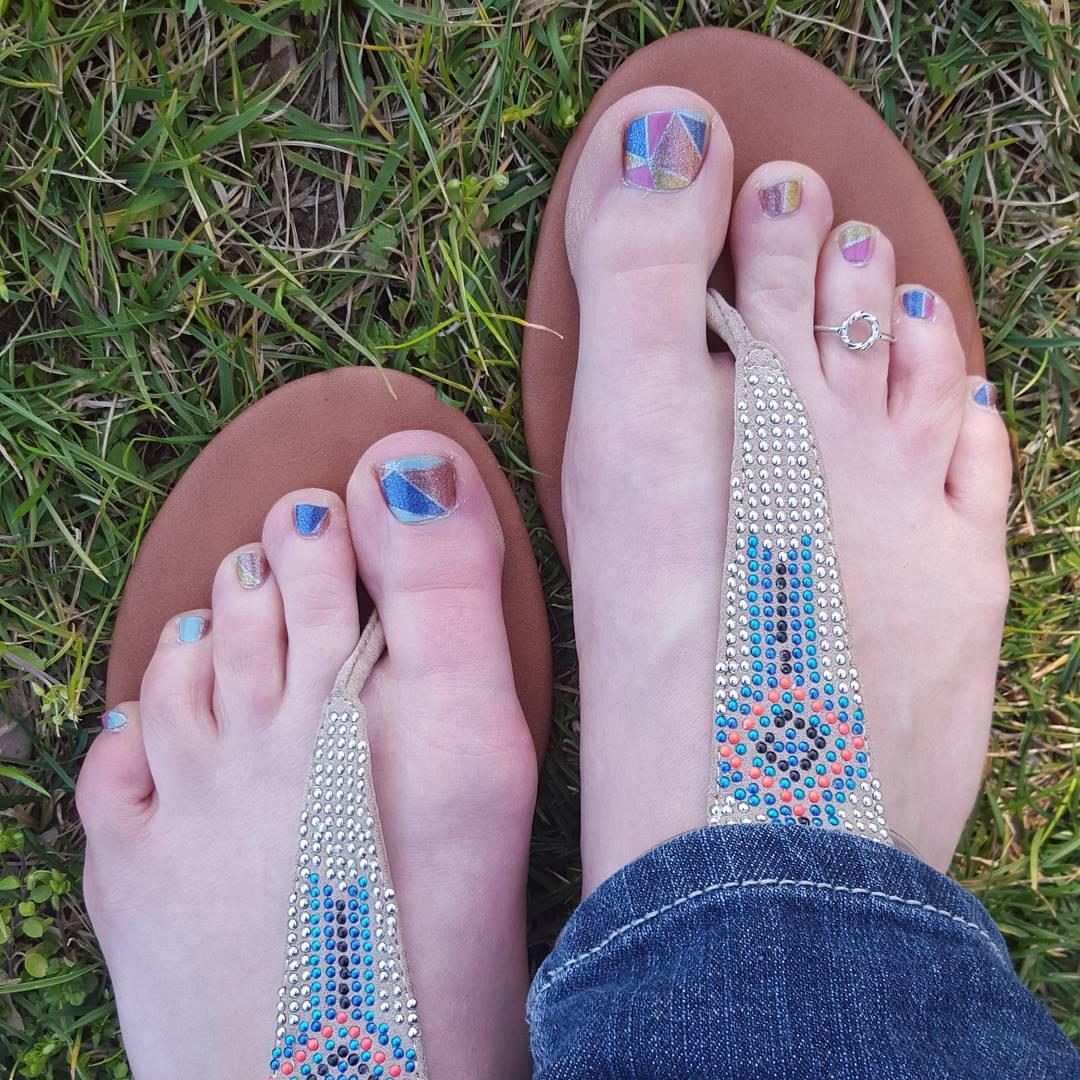 wonderful summer nail design