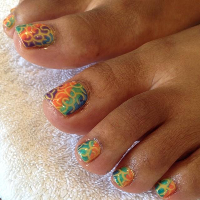 Easy Toe Nail Art Designs: 26+ Summer Toe Nail Art Designs, Ideas
