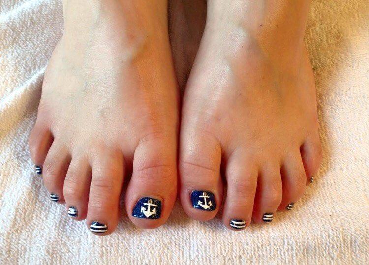 blue summer nail designs