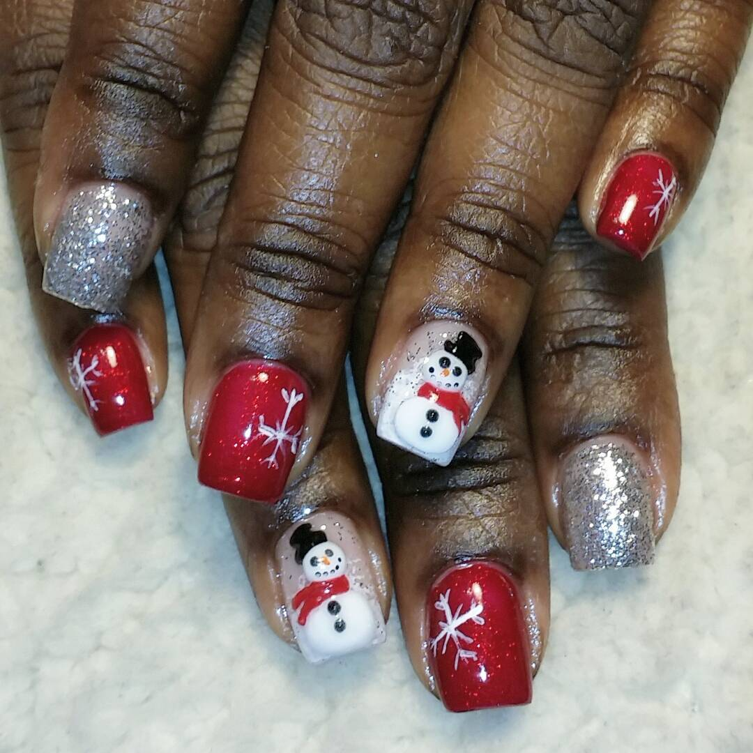 Cute And Pretty Nail Design For Dark Skin