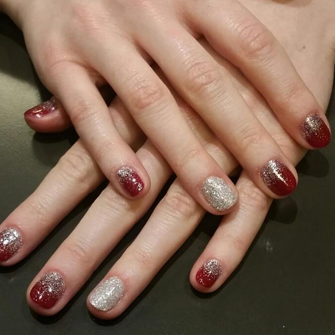 Glitter Design Nail Art For Short Nails