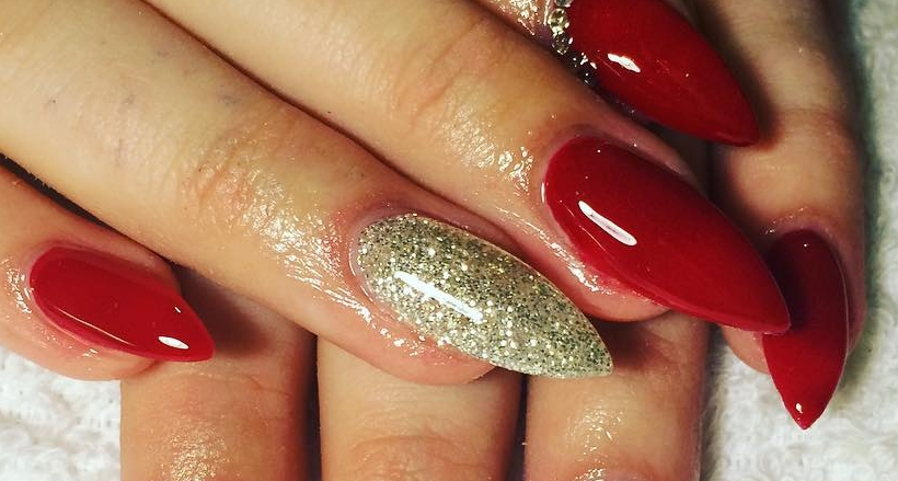 26 Red And Silver Glitter Nail Art Designs Ideas Design Trends