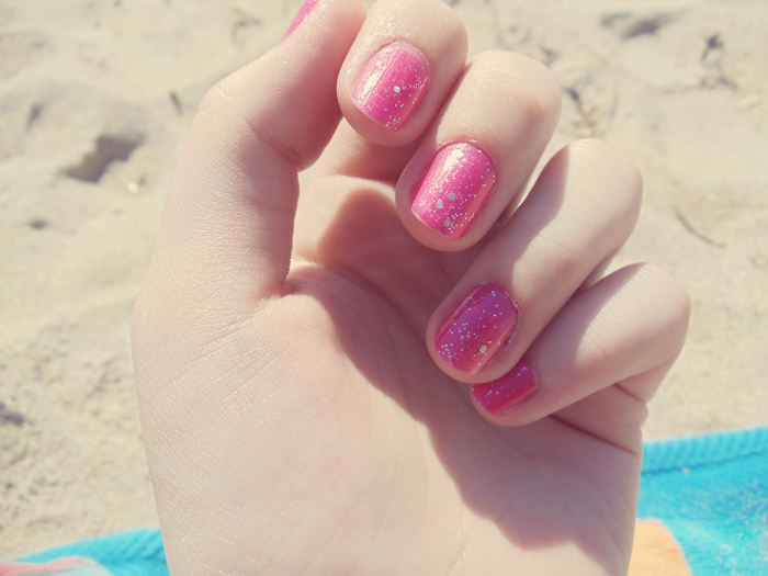 Pink Barbie Summer Nail Design