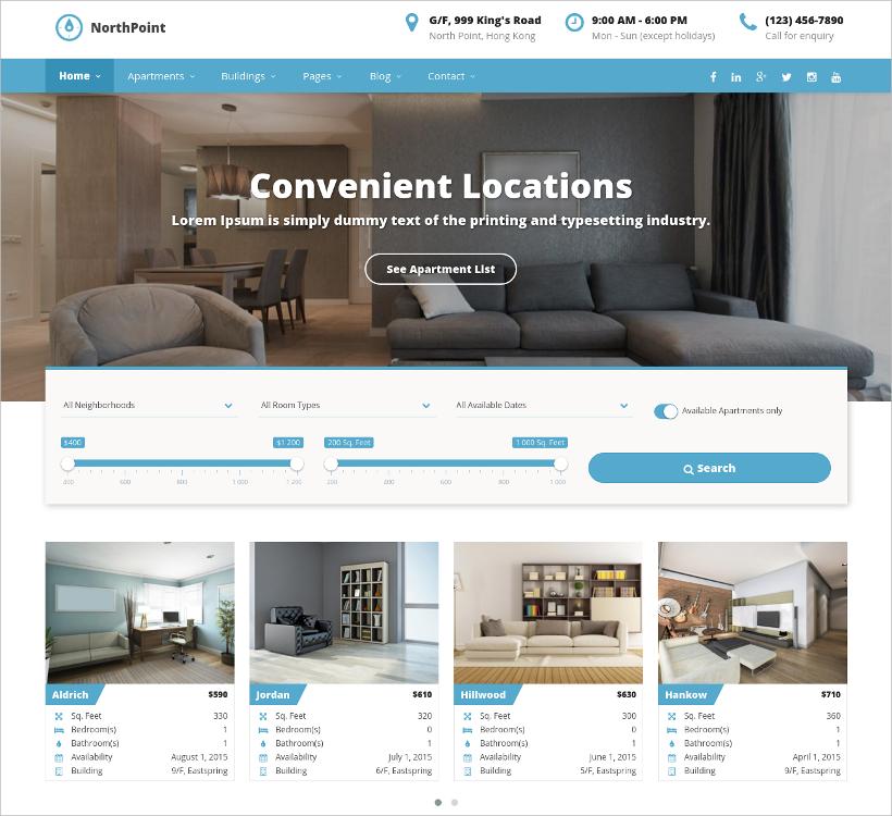 apartment rental theme