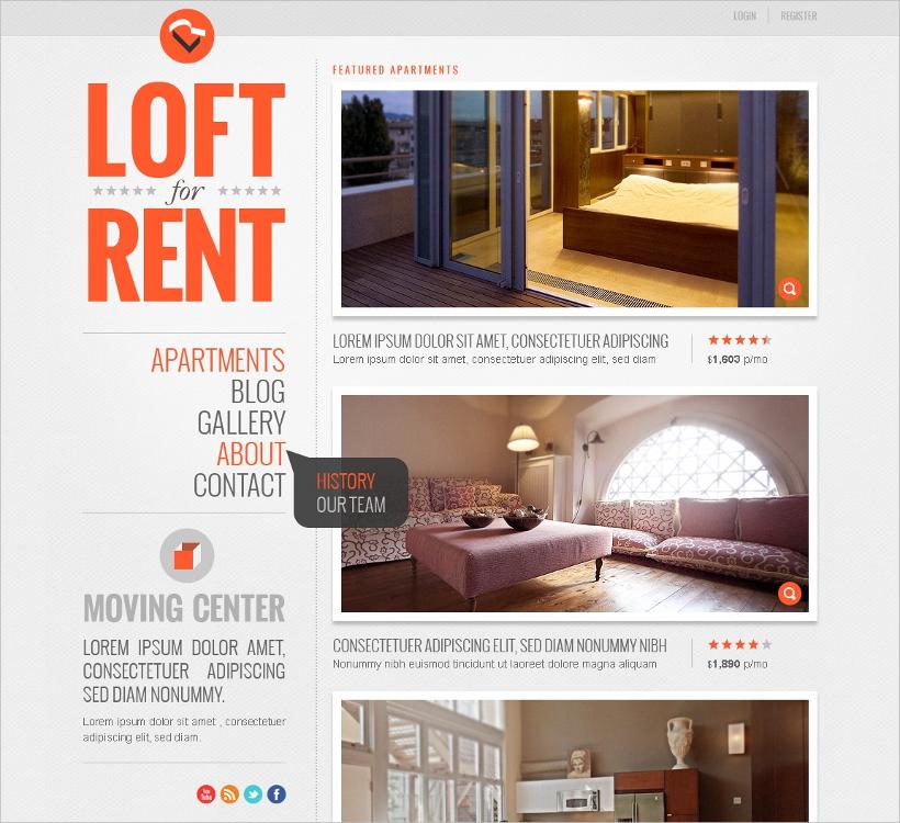 commercial real estate wordpress theme