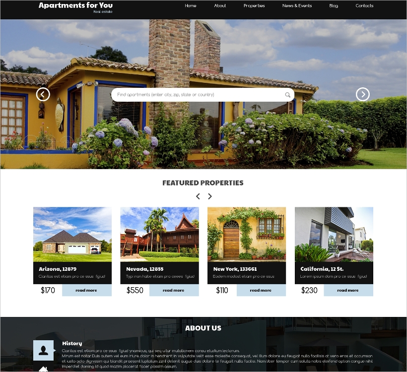 Multilingual Real Estate WordPress Theme