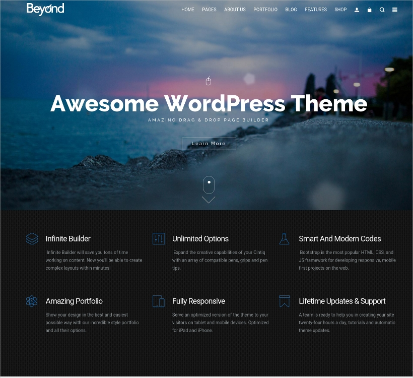 one page real estate wordpress theme